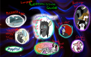 Commission Guide: Summer 2013 by Lexipup1