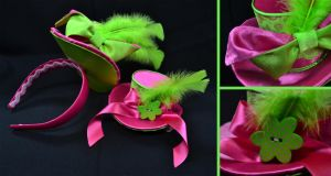 Neon Mini Top Hats by FireFlyExposed
