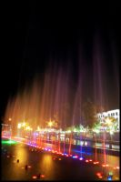 Fountain and Light by techno-x