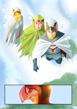gatchaman page by numbo