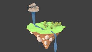 Low poly island by Vermacian55