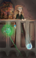 Trelawney Fights Back by justpottering