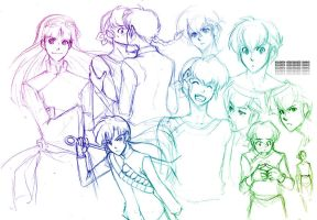 Ranma: Doodles 1 by gem2niki