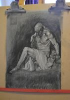 charcoal painting study by maureencreates