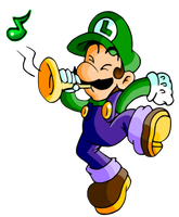 Luigi Trumpet by JamesmanTheRegenold