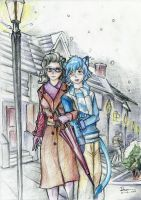 Femrainy x Ran: Couples in the Snowy Town by ValorNomad