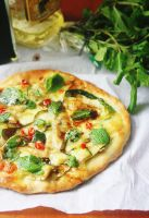 Zucchini,Chilli and Mint Pizza by sasQuat-ch
