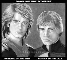 Anakin and Luke Skywalker by DaleNorvell