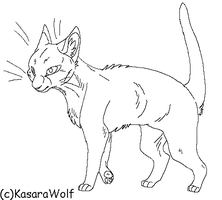 Smooth Short Hair Cat Template by KasaraWolf