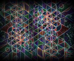 inverted digital flower of life by santosam81