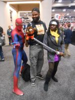 Spider-Man, Avarice Monkey and Michonne by pa68