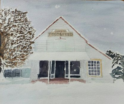 Winter at Buxton Food 'n Feed by CelestialOrca