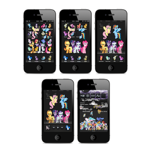 (Nearly) Everypony iPhone and iTouch Theme
