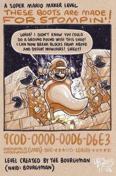 Mario Maker: These Boots Are Made For Stompin' by TheBourgyman
