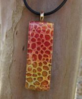 Fire Dragon Scales Fused Glass by FusedElegance
