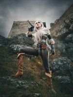 On the ruins of Kaer Morhen by vacuumkiller