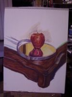 Apple, Mirror and Table by tree27