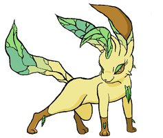 Leafeon - Howdy there, sugar by Thundrbolt