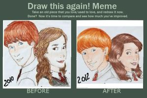 Draw again - Ron and Hermione by talita-rj