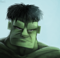 DAY 193. The Hulk (25 Minutes) by Cryptid-Creations