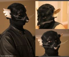 Black Rat LARp Mask with Makeup and balaclava by Magpieb0nes