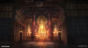 Tomb Raider - Japan Shrine Concept Design by ScribblePadStudios