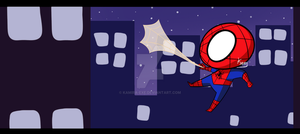 Chibi Spiderman by Kamira-Exe