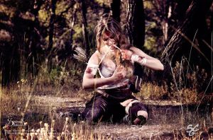 Lara Wounded by IreneAstral
