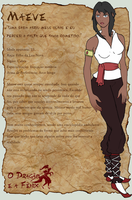 Maeve character sheet by MaryCMuller
