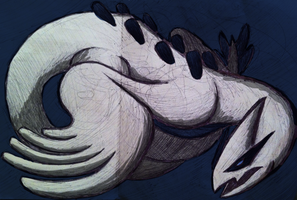 Lugia doodle by Hato