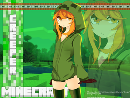 Minecraft -  Creeper Girl by Bennjo