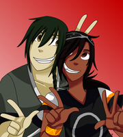 Symone and Shino by PockyBloo