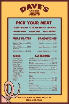 Dave's Catering and Country Smoked Meats by keithkratzdesign
