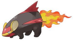 #5 Pyrode by Smiley-Fakemon