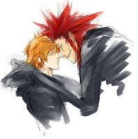kh2 - axel and roxas by chirart