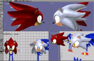 3D red and ghost head .:WIP:. by HitoRyu