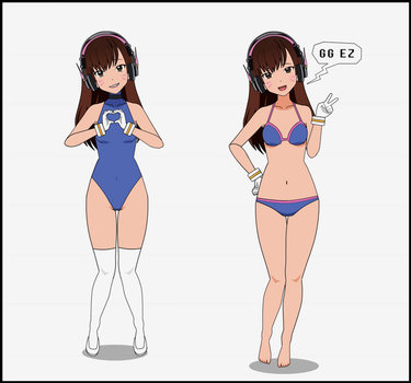 D.Va Alternative Outfits by Viehdieb