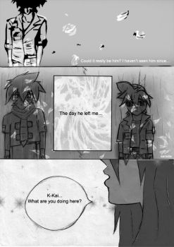 TyKa doujinshi page three by Serielle