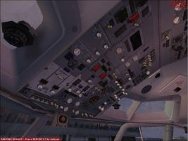 737-400 overhead panel by mikethelucario