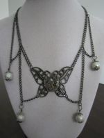 Steampunk Butterfly Necklace by bcainspirations