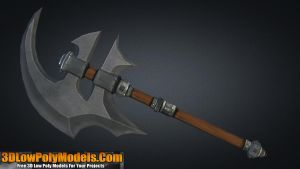 Axe #3 3D Low Poly | 3DLowPolyModels.Com by 3dlowpolymodels