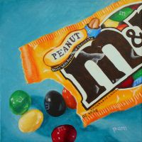 Peanut M and M's by paintintheneck