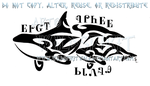 Cherokee Orca And Calf Tribal Design by WildSpiritWolf