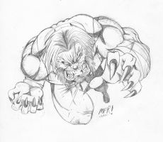 Quick Sketch - Sabertooth by the-pooper
