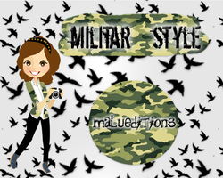 Militar style by malueditions