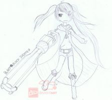 Black Rock Shooter OwO by mcdmouse
