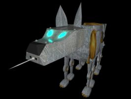 Mechanical Hound Close-up by Etrocal