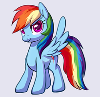 A Rainbow Dash by unicornkettle