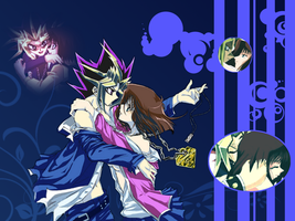 Yami and Anzu wallpaper by Dorchica