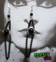 GOTHIC CHANDELIER EARRINGS by TocsinDesigns